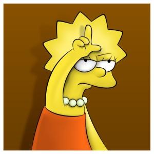 Cartoon - Simpsons - Lisa - Loser