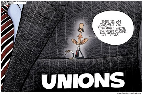 Cartoon - Obama in Union Pocket