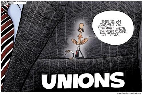 Cartoon - Obama in Union Pocket