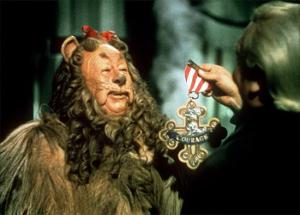 Movie - Wizard of Oz - Lion Receives Courage