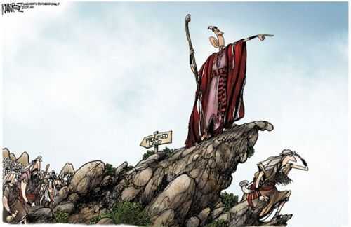 Obama - as Moses