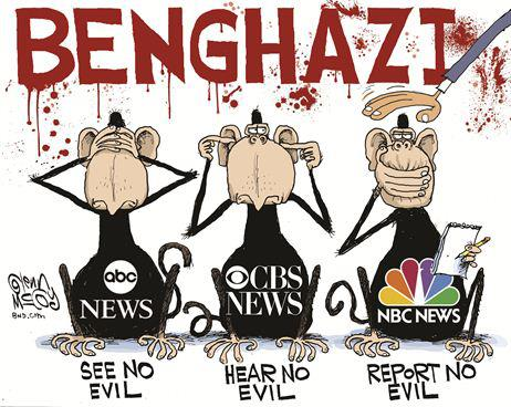 Political Cartoon - 2012 - Benghazi - Media