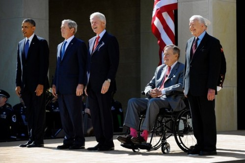 2012 04 25 - Presidents at Opening of George W Bush Library