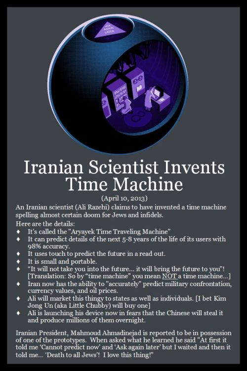 2013 04 10 - Iranian Time Machine