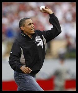 People - Obama, Barack - Throw Like a Girl