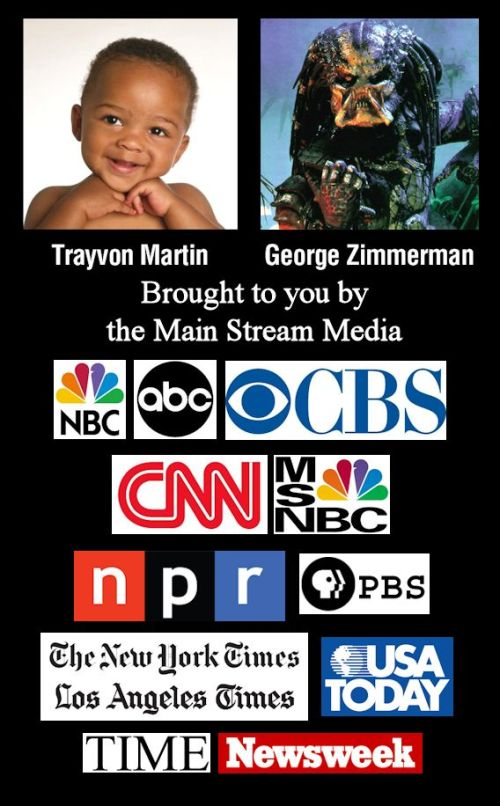 Pictures of Trayvon Martin and George Zimmerman as Depicted by the Main Stream Media