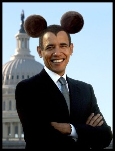 People - Obama, Barack - Mickey Mouse Ears