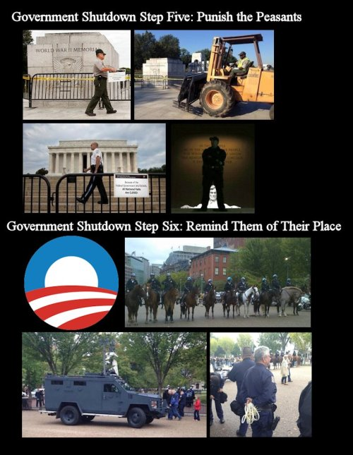 Government Shutdown - Step Five & Six - Punish Steps and Rules used by the left during Government Shutdowns