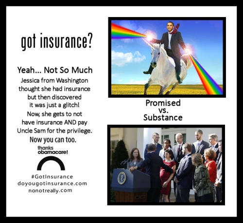 Got Insurance?  No... No You Don't!  Thanks Obamacare!