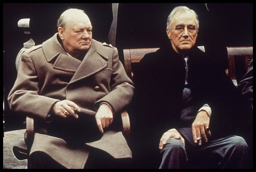 History - 1945 - Churchill and Roosevelt
