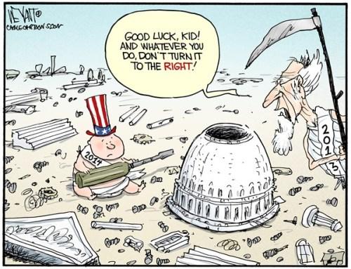 Political Cartoon - 2014 01 00 - New Year - No Right Turn