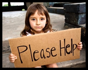 Poverty - Girl - Sign, Please Help