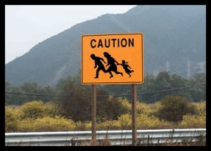 Immigration - Illegal Crossing Sign