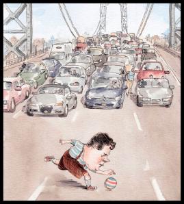 People - Christie, Chris - Blocking Traffic