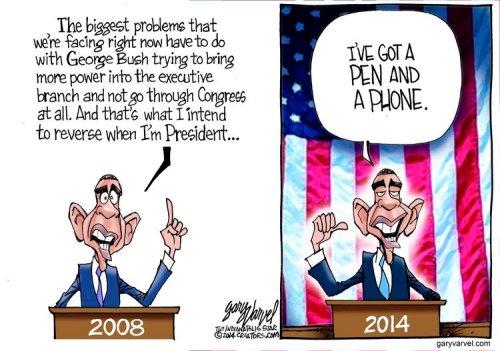 Political Cartoon - 2014 02 16 - Obama on Executive Orders