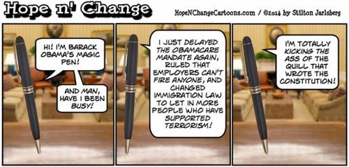 Political Cartoon - 2014 02 16 - Obamas Magic Pen