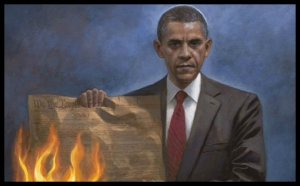 People - Obama, Barack - Burn Constitution