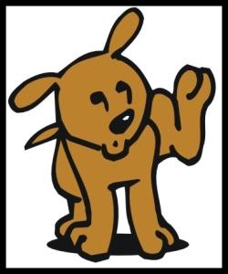 Dog - (cartoon) - Lifting Leg