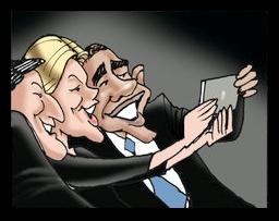 People - Barack Obama - Selfie at Funeral