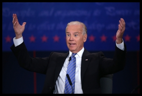 People - Biden, Joe - Hands Up