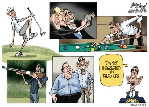Political Cartoon - 2014 07 12 - Not Interested in Photo Ops