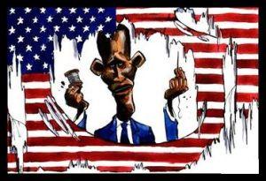 Obama - Desecrate Flag