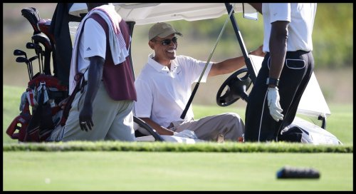 People - Obama, Barack - Golfing