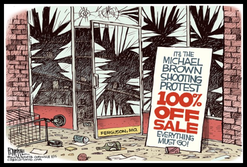 Political Cartoon - 2014 08 00 - Micheal Brown Sale