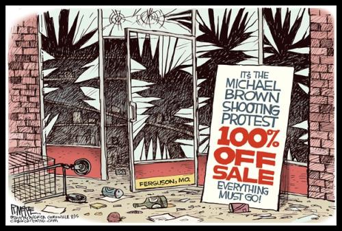 Political Cartoon - 2014 08 00 - Micheal Brown Sale