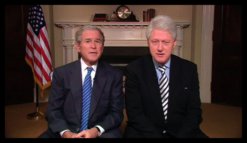People - Clinton and Bush