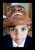 People - Obama, Barack - Kid in Mask