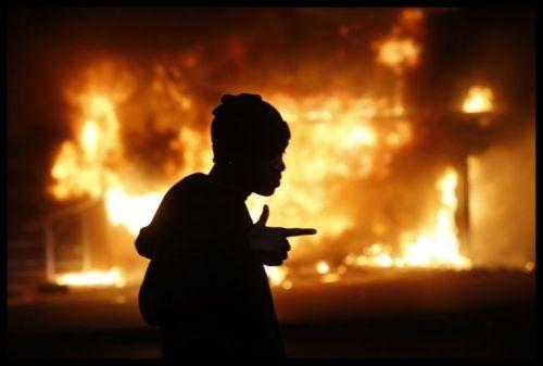 2014 11 - Ferguson Burning