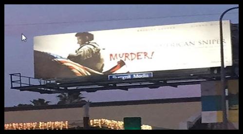 American Sniper Billboard Tagged