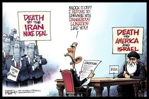 Political Cartoon - 2015 03 00 - Obama and Iran