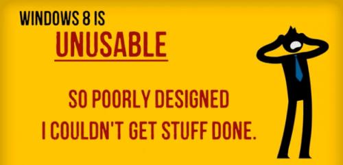 Windows - 8 Unusable