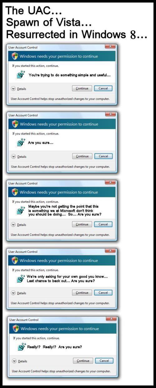 Windows - Vista and 8 UAC