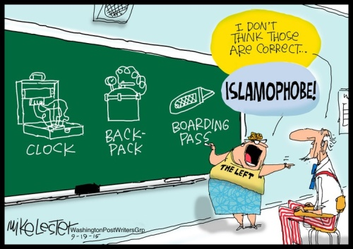 Islamophobe - Political Cartoon