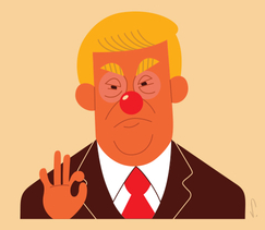 people-trump-donald-clown-nose